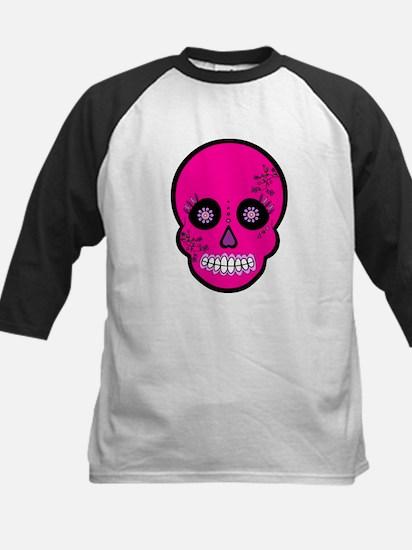 Pink Sugar Skull Day of the Dead Kids Baseball Jer