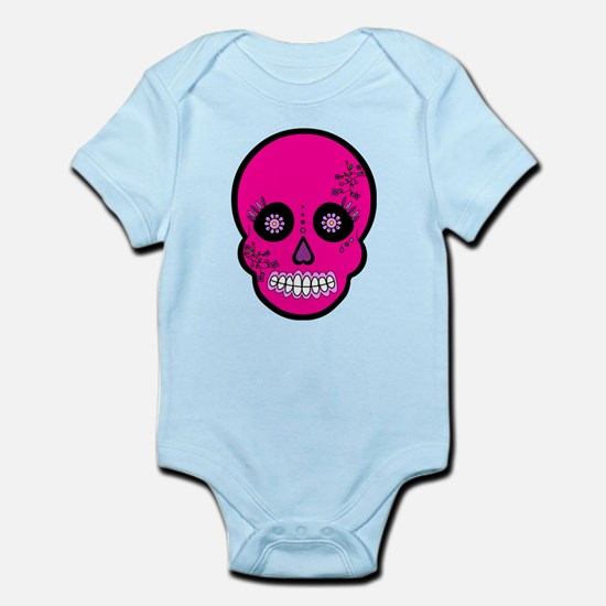 Pink Sugar Skull Day of the Dead Infant Bodysuit