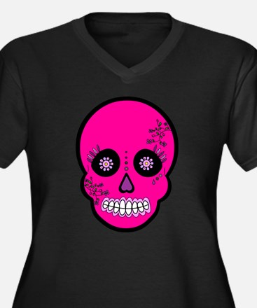 Pink Sugar Skull Day of the Dead Women's Plus Size