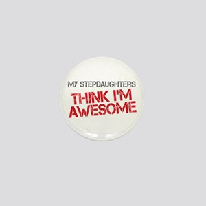 Stepdaughters Awesome Mini Button