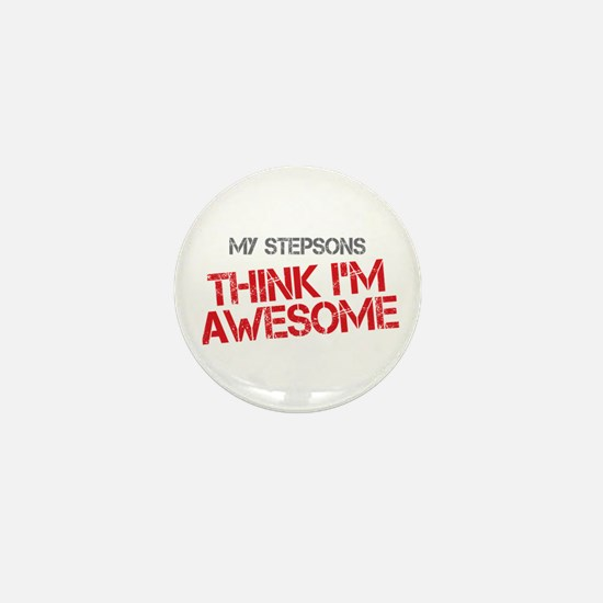 Stepsons Awesome Mini Button