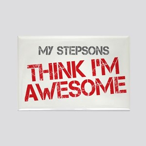 Stepsons Awesome Rectangle Magnet