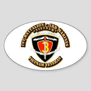 SSI - 2nd Battalion - 3rd Marines USMC VN Sticker