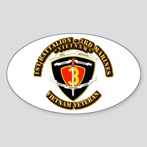 SSI - 2nd Battalion - 3rd Marines USMC VN Sticker