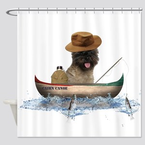 Cairn Terrier Fishing Shower Curtain