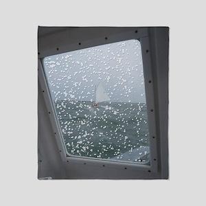 Water View / Rain Drops Throw Blanket