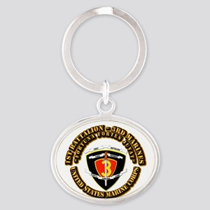 SSI - 1st Battalion - 3rd Marines With Text USMC O