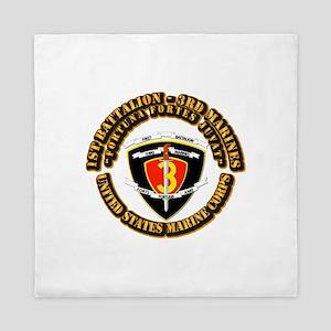 SSI - 1st Battalion - 3rd Marines With Text USMC Q