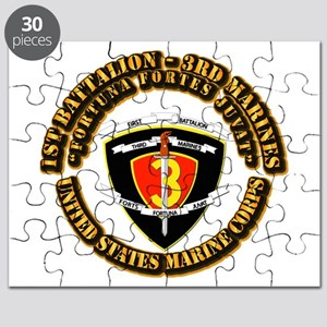 SSI - 1st Battalion - 3rd Marines With Text USMC P