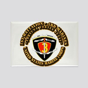 SSI - 1st Battalion - 3rd Marines With Text USMC R