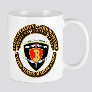 SSI - 1st Battalion - 3rd Marines With Text USMC M