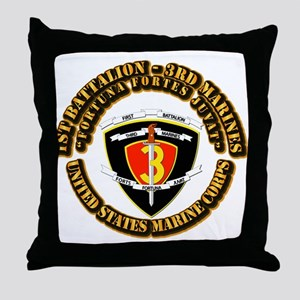 SSI - 1st Battalion - 3rd Marines With Text USMC T
