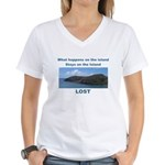 Lost, The Island Women's V-Neck T-Shirt