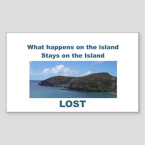 Lost, The Island Rectangle Sticker