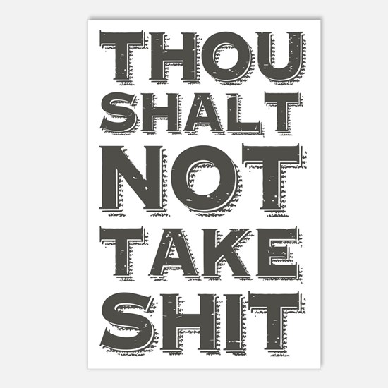 Thou shalt not take shit Postcards (Package of 8)