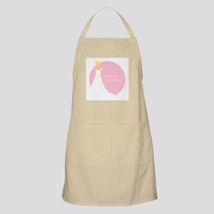 Here Comes the Bride Blonde Hair Pink Apron
