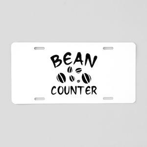 Bean Counter Aluminum License Plate