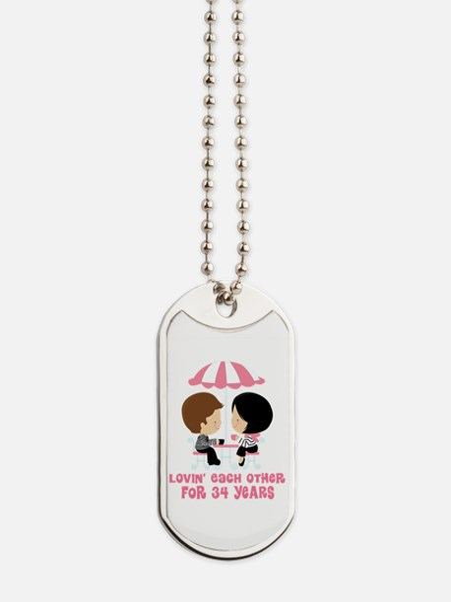 34th Anniversary Paris Couple Dog Tags