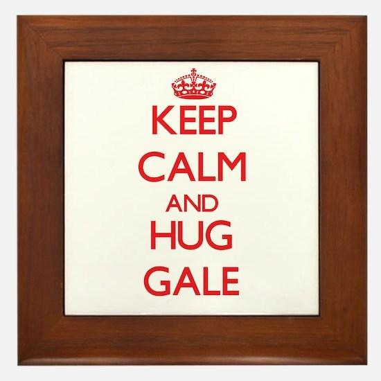 Keep Calm and HUG Gale Framed Tile