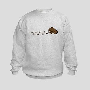 Muddy Chocolate Lab Kids Sweatshirt