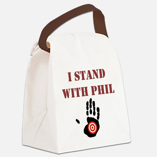 I STAND WITH PHIL Canvas Lunch Bag