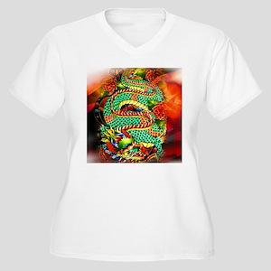 Tattoo Oriental D Women's Plus Size V-Neck T-Shirt