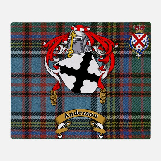 Throw Blanket Anderson Family With Scottish Tartan