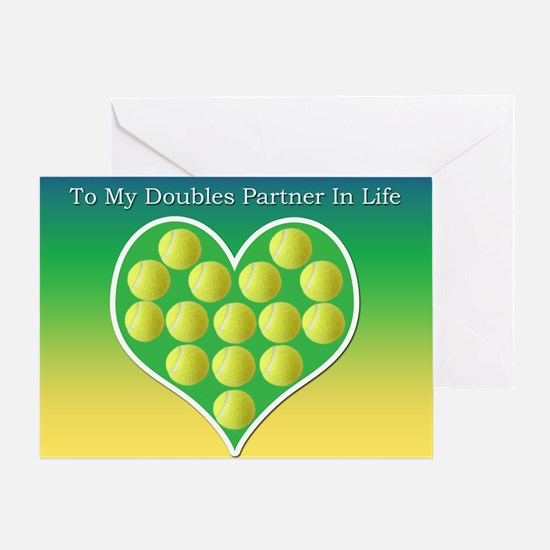To My Doubles Partner In Life Anniversary Card
