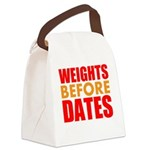 Weights Before Dates Canvas Lunch Bag