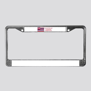 Hawaii Motto #1 License Plate Frame