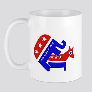 GOP Elephant Humping Donkey Mug
