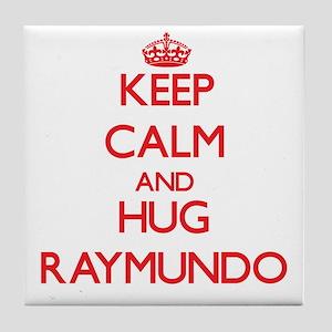 Keep Calm and HUG Raymundo Tile Coaster