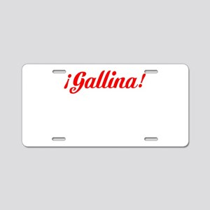 River Plate Gallina Aluminum License Plate