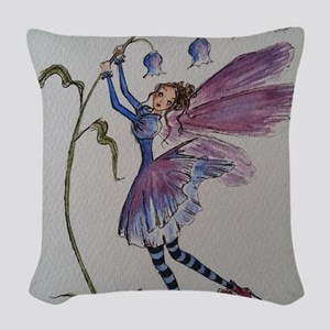 Bluebell Fairy Woven Throw Pillow