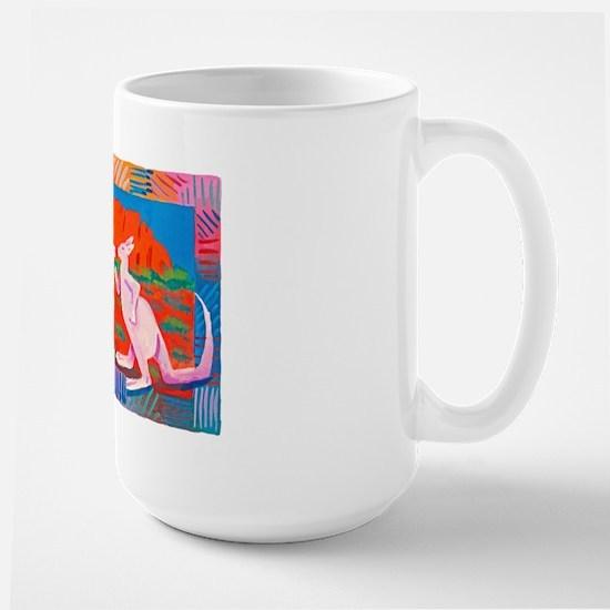 'Boxing Kangaroos' Large Mug