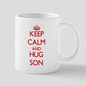 Keep Calm and HUG Son Mugs