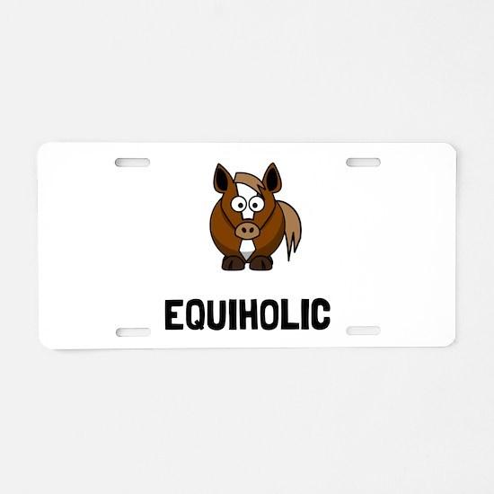 Equiholic Horse Aluminum License Plate