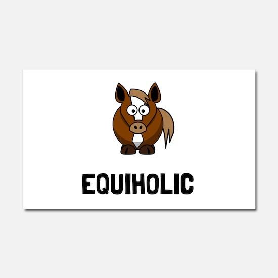 Equiholic Horse Car Magnet 20 x 12