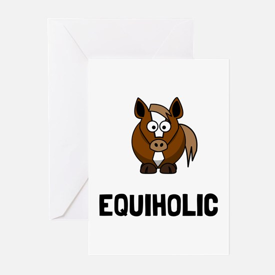 Equiholic Horse Greeting Cards