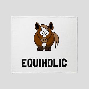 Equiholic Horse Throw Blanket