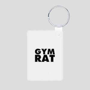 Gym Rat Aluminum Photo Keychain