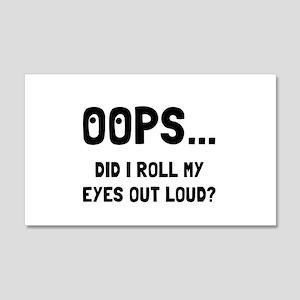 Eye Roll Wall Decal