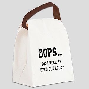 Eye Roll Canvas Lunch Bag