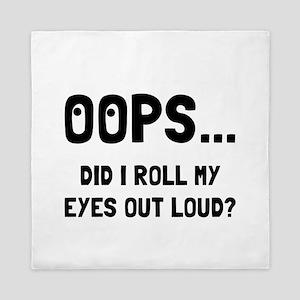 Eye Roll Queen Duvet