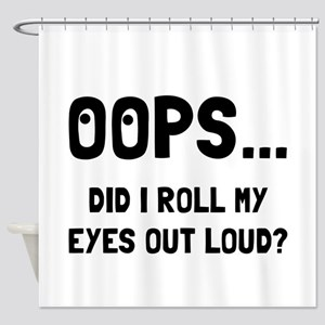 Eye Roll Shower Curtain