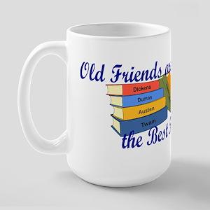 Books Best Friends Large Mug