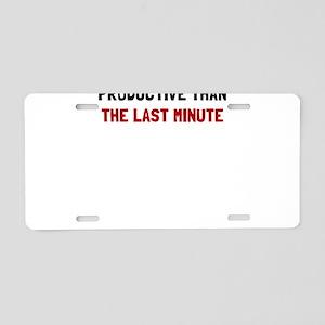 Last Minute Aluminum License Plate