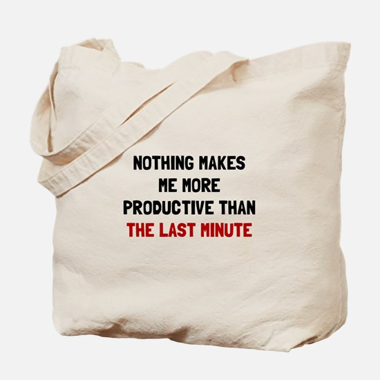 Last Minute Tote Bag