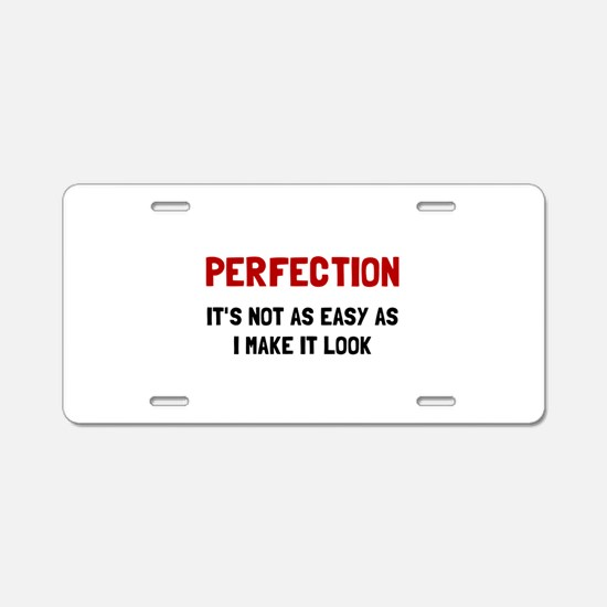Perfection Easy Aluminum License Plate