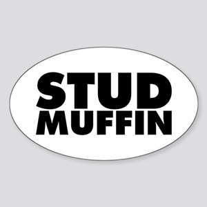 Stud Muffin Sticker (Oval)